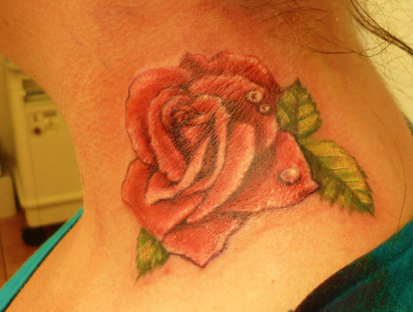Rose- Neck Tattoo by mortimersparrow on DeviantArt
