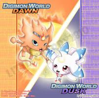 Digimon Dawn and Dusk by littlecherry2810