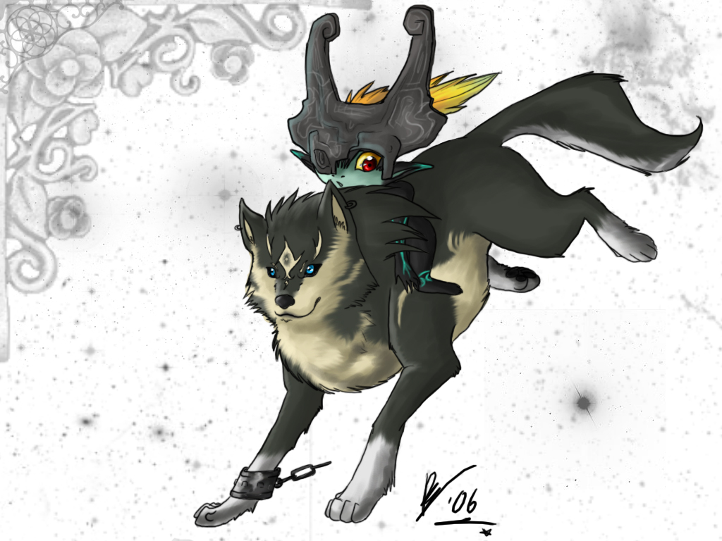 :: wolf link + midna by yamichan