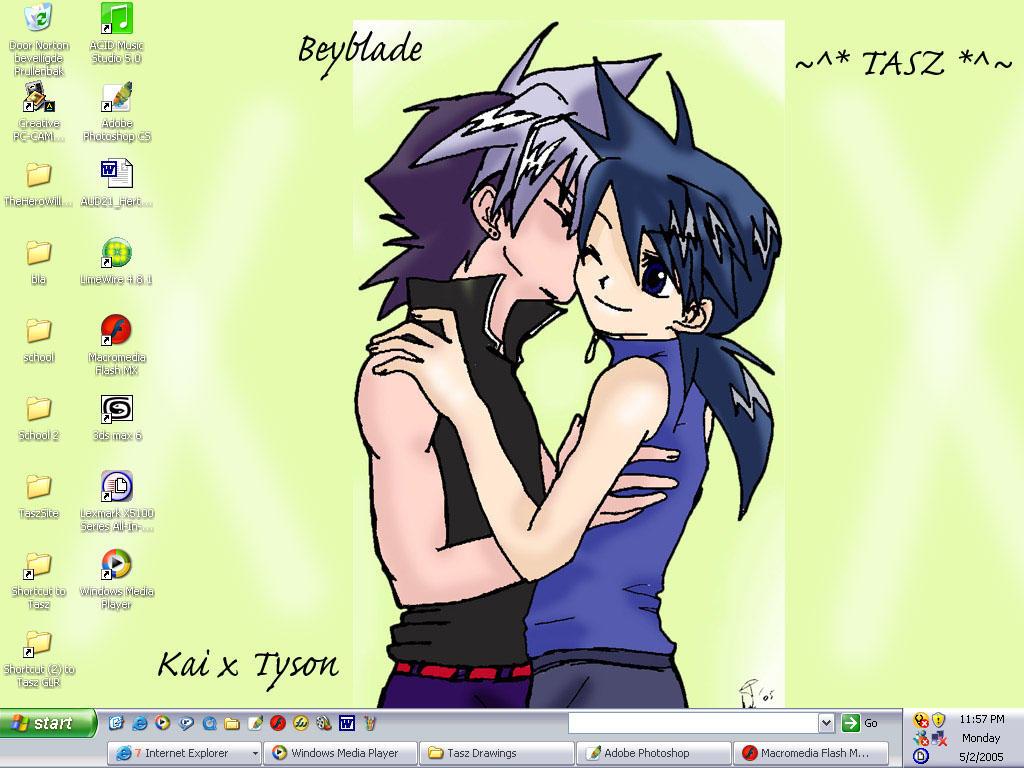 Tasz's -KaixTyson Yaoi Desktop by Taszy