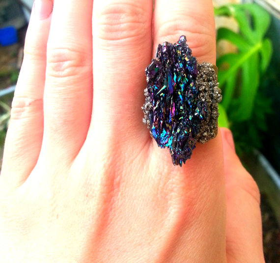 32973d7e3f81d Rainbow Hematite Pyrite ring by nibirujewellery on DeviantArt