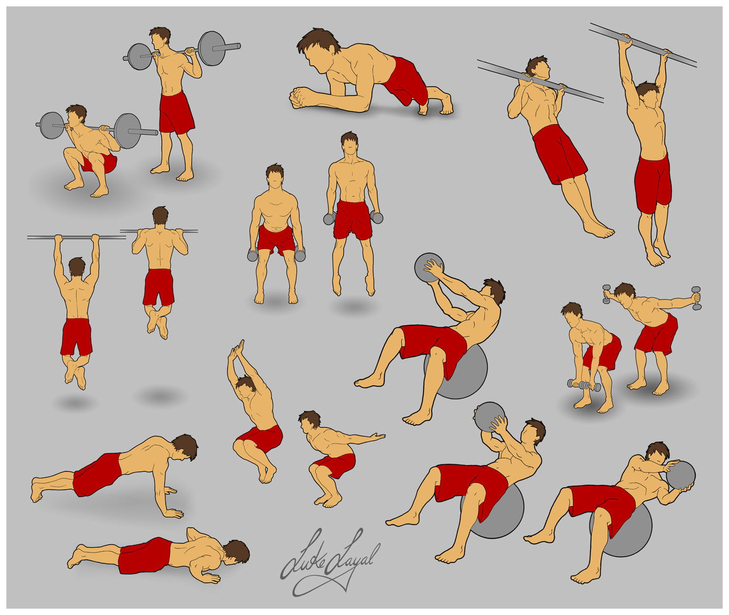 Exercise Diagram 2 by Lo-yal on DeviantArt