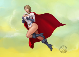 power girl 2 color by verdugocenobita