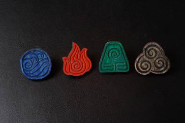 Avatar: the last airbender bending symbols by bassqee