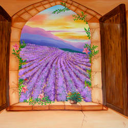 Window - Lavender Fields by KRSdeviations