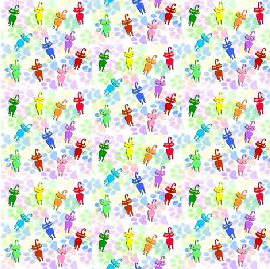 colorful kitties fabric by KRSdeviations