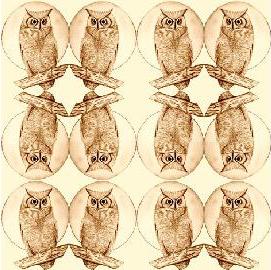 owls fabric by KRSdeviations