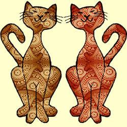 paisley kitties by KRSdeviations