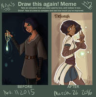 Draw This Again Meme: Deb by NinaWolverina