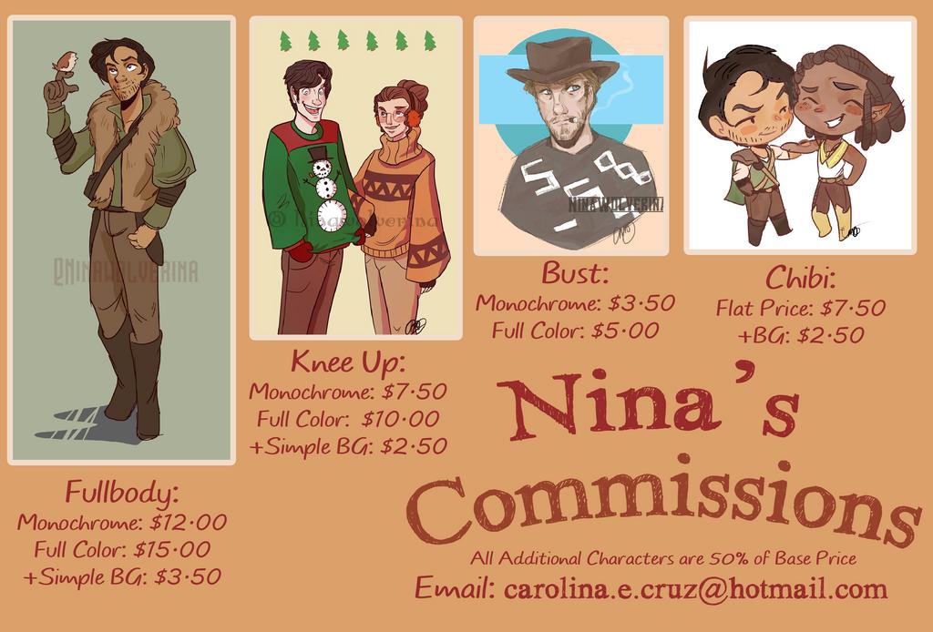 Commission Sheet 2k17 (OPEN) by NinaWolverina