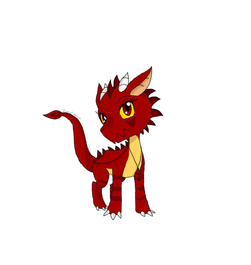 Baby Dragon by ZanyComics