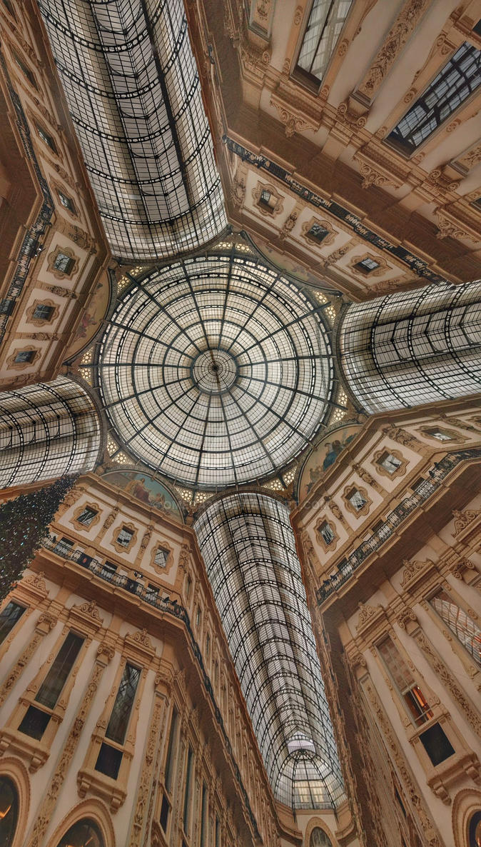 The roof of Galleria Vittorio Emanuele II by Omega36