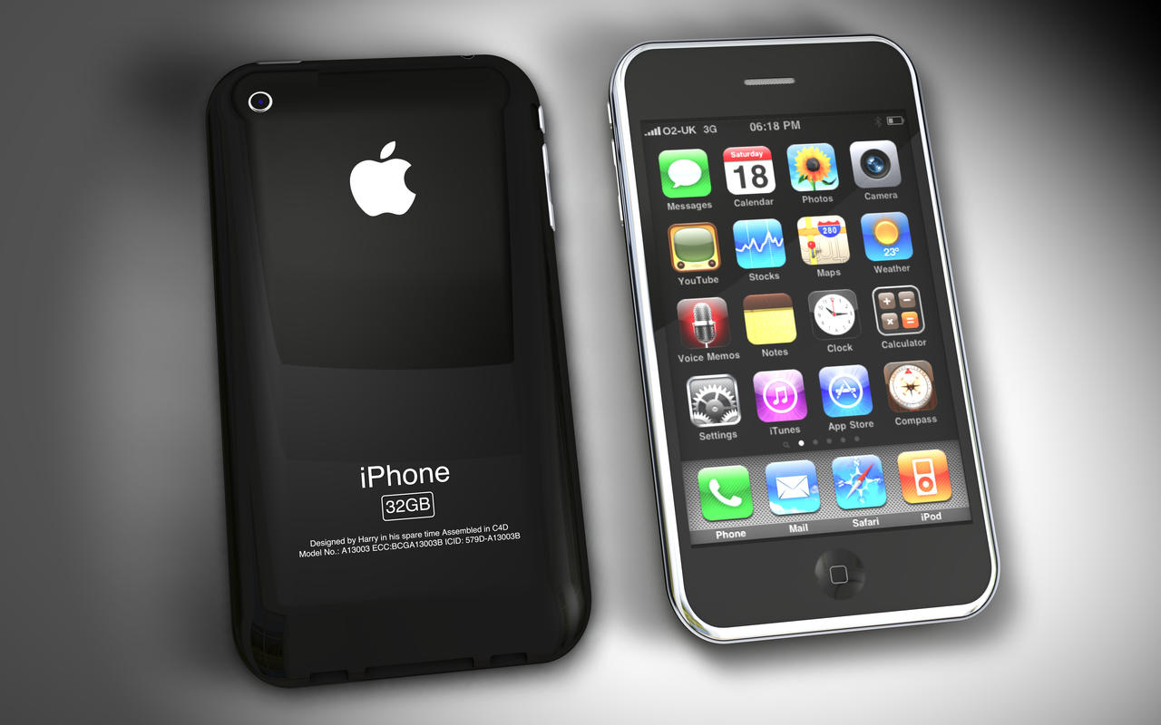 iPhone 3G Front + Back by Hazza42