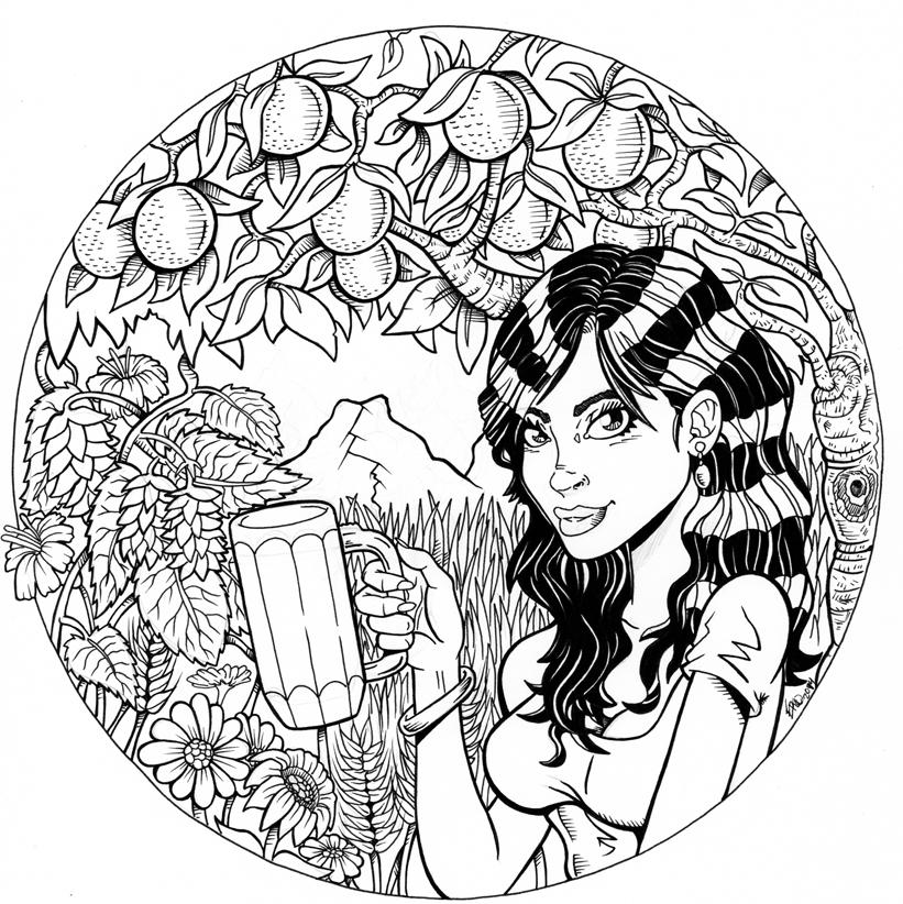 Chica y cerveza artesanal!! by RAVELO