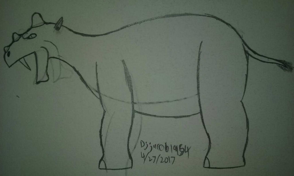 Uintatherium by Djjacob1954