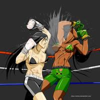 Liz vs Rui rematch  pt 3 by deadpoolthesecond
