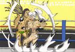 Liz vs Miyu by deadpoolthesecond