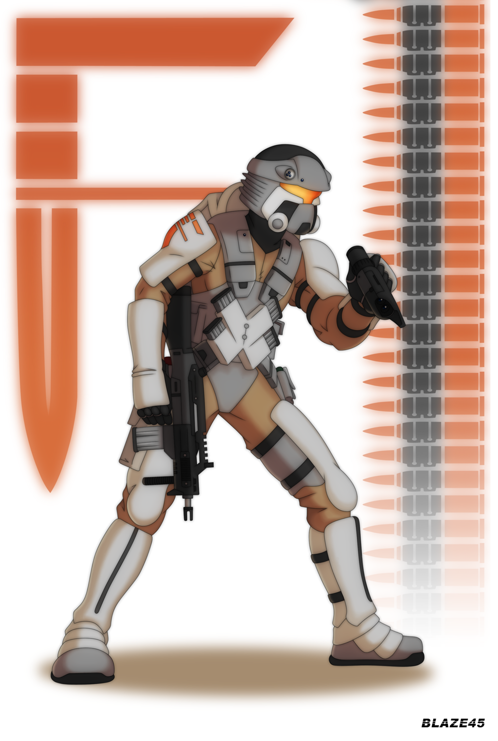 Foster Corp Standard Soldier Blaze 45 version by deadpoolthesecond