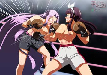 Kagura Mikazuchi vs Medusa by deadpoolthesecond