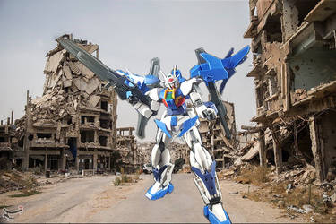 Gundam 00 sky background test by deadpoolthesecond