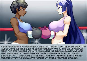 Lisa Becker vs Minomoto no Raikou 01 by deadpoolthesecond