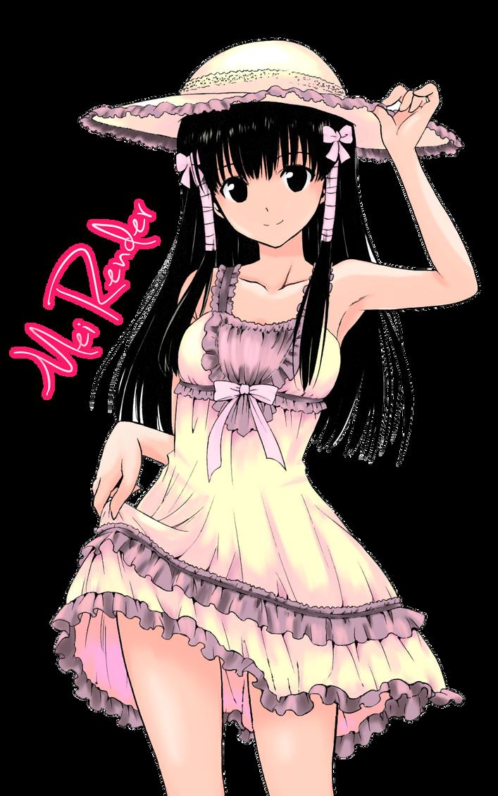 Skinny anime girl