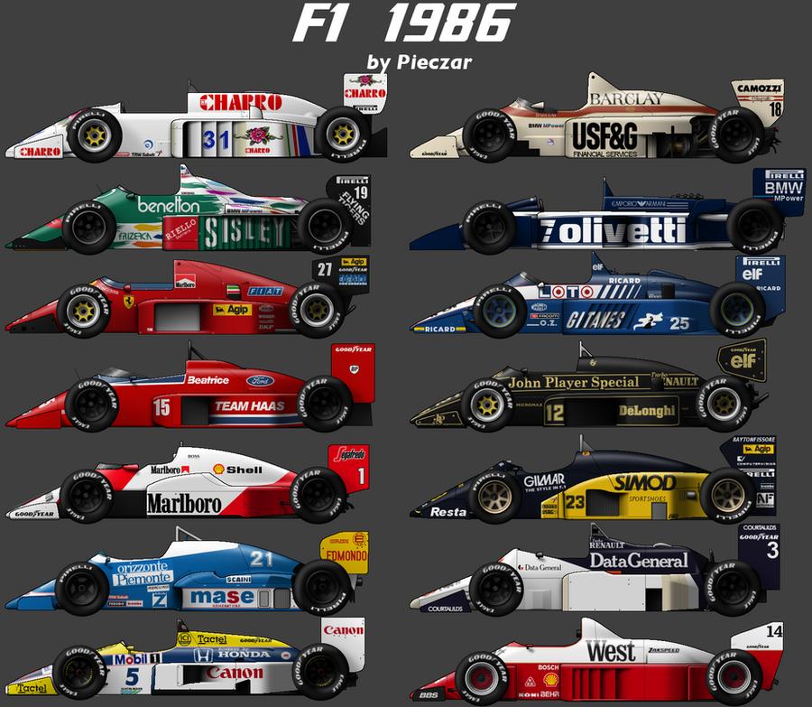 F1 1986 carset by pieczaro on DeviantArt