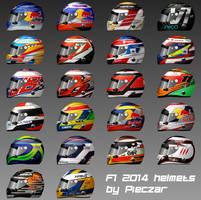 2014 F1 driver helmets