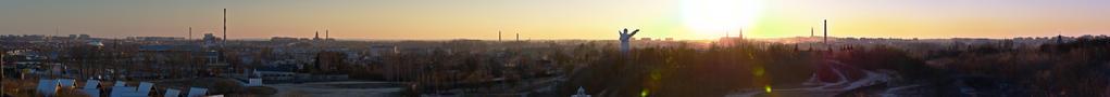 Sunset over Czestochowa