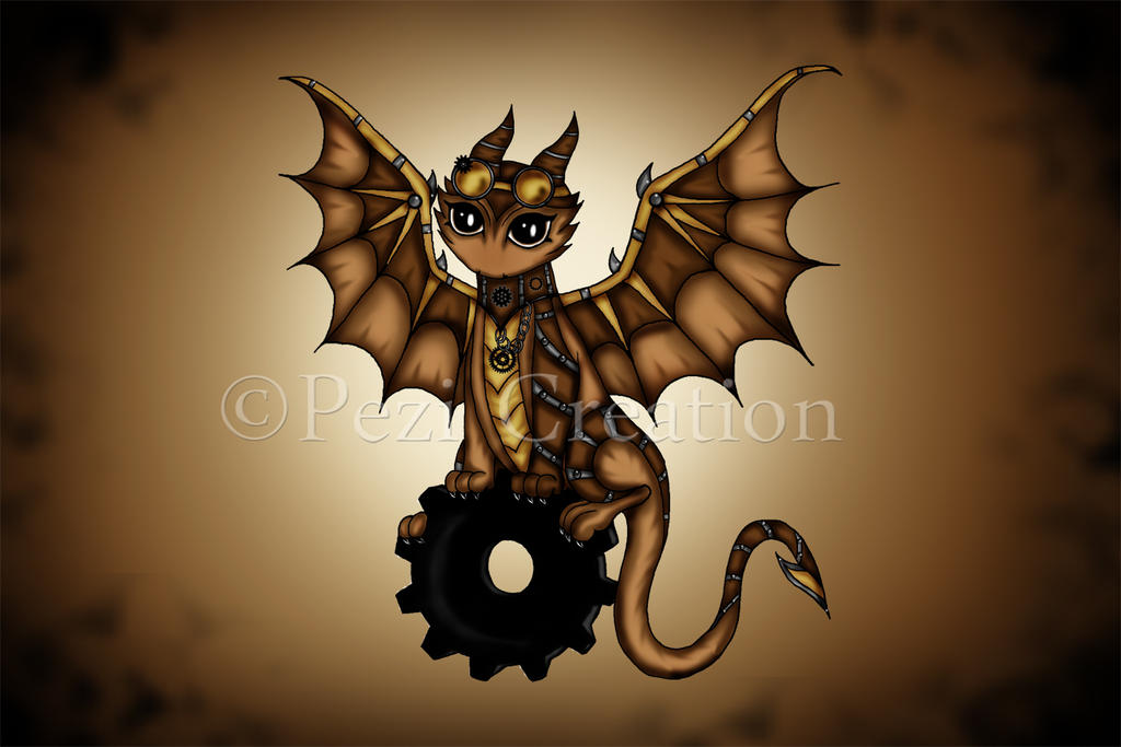 Steampunk Dragon by PeziCreation