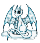 Ice Dragon commission by PeziCreation
