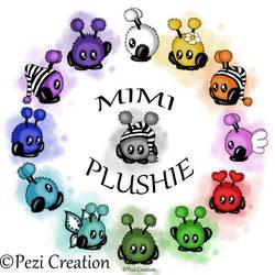 cute Mimiplushies by PeziCreation