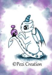 Dragon with Mimiplushie by PeziCreation