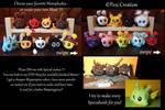 my Mimiplushies Mascots by PeziCreation