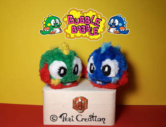 Bubble Bobble Mimiplushies by PeziCreation