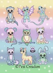cute pastel Animals