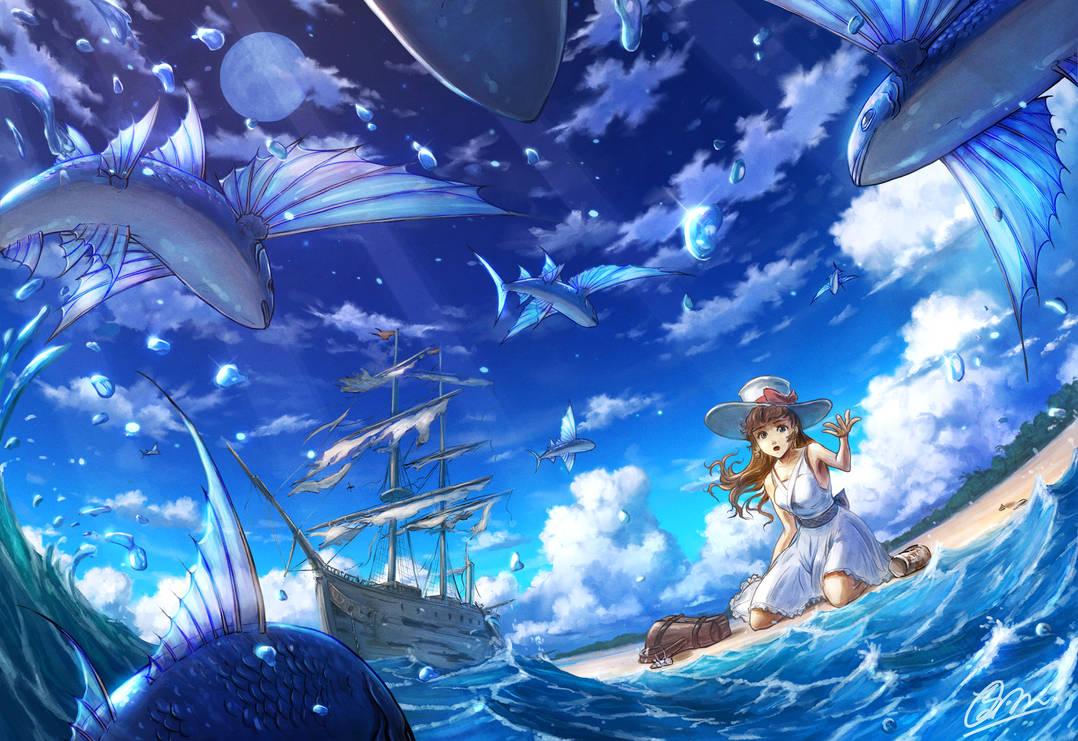 The sound of the sea by makkou4