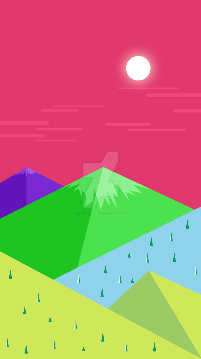 Colour Mountains Wallpaper Galaxy S7 Edge by Folicorow16