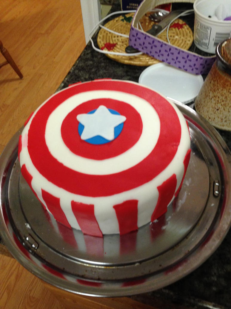 Captain Americas Shield Cake by lupinelover on DeviantArt