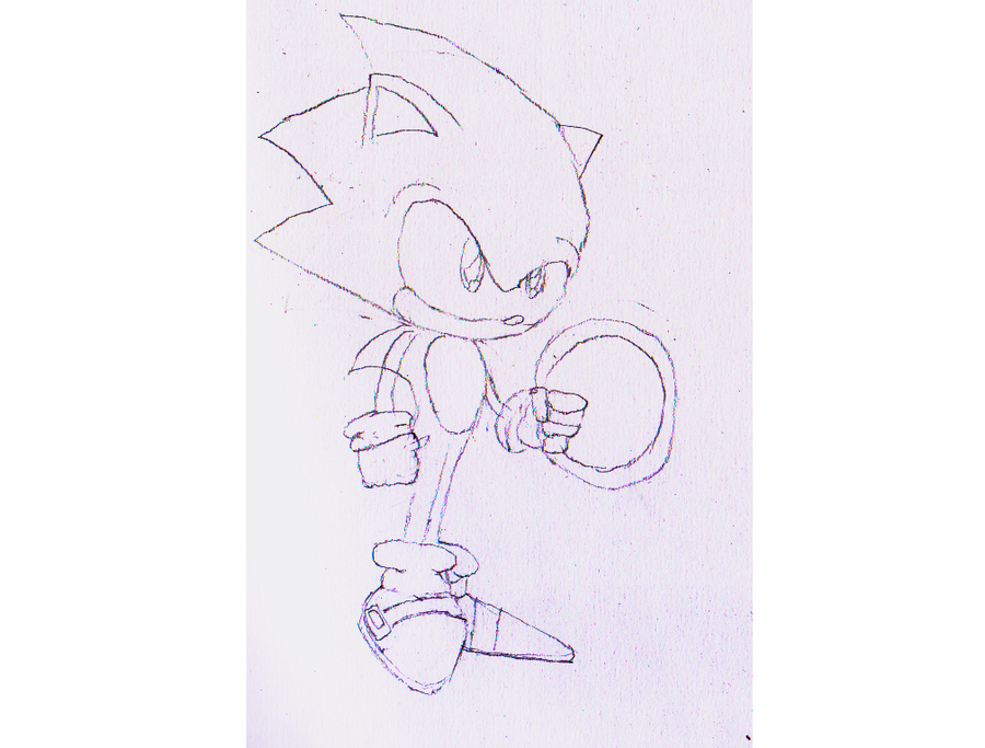 Sonic sketch by NastyLittlePincushin