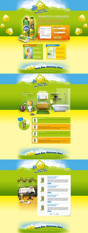 Cif and Domestos promo web site