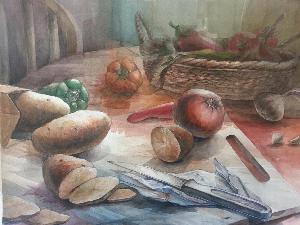 Still Life: Vegetables by brendonpark