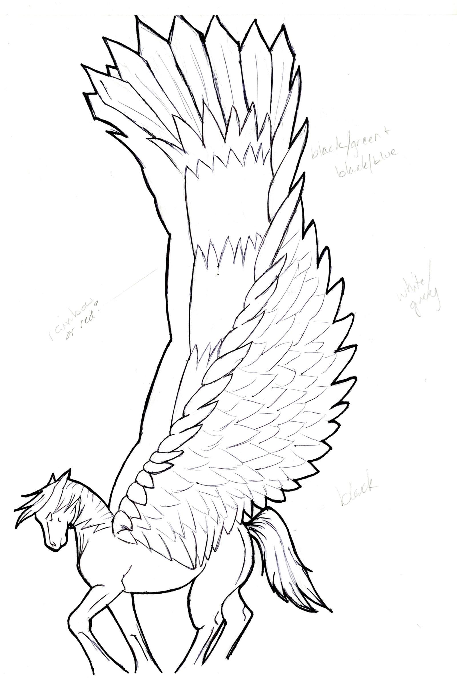 pegasus sketch by sparkpaw on deviantart