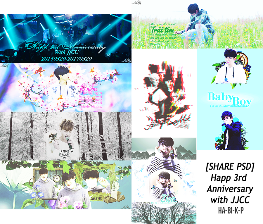[SHARE PSD] Happy 3rd Anniversary with JJCC by Ha-Bi-K-P