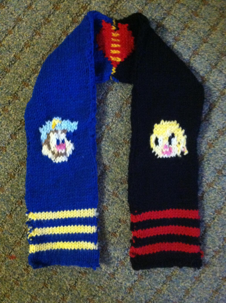 Fix-it Felix jr. and Sgt. Calhoun Scarf by 4CatsinaBoat