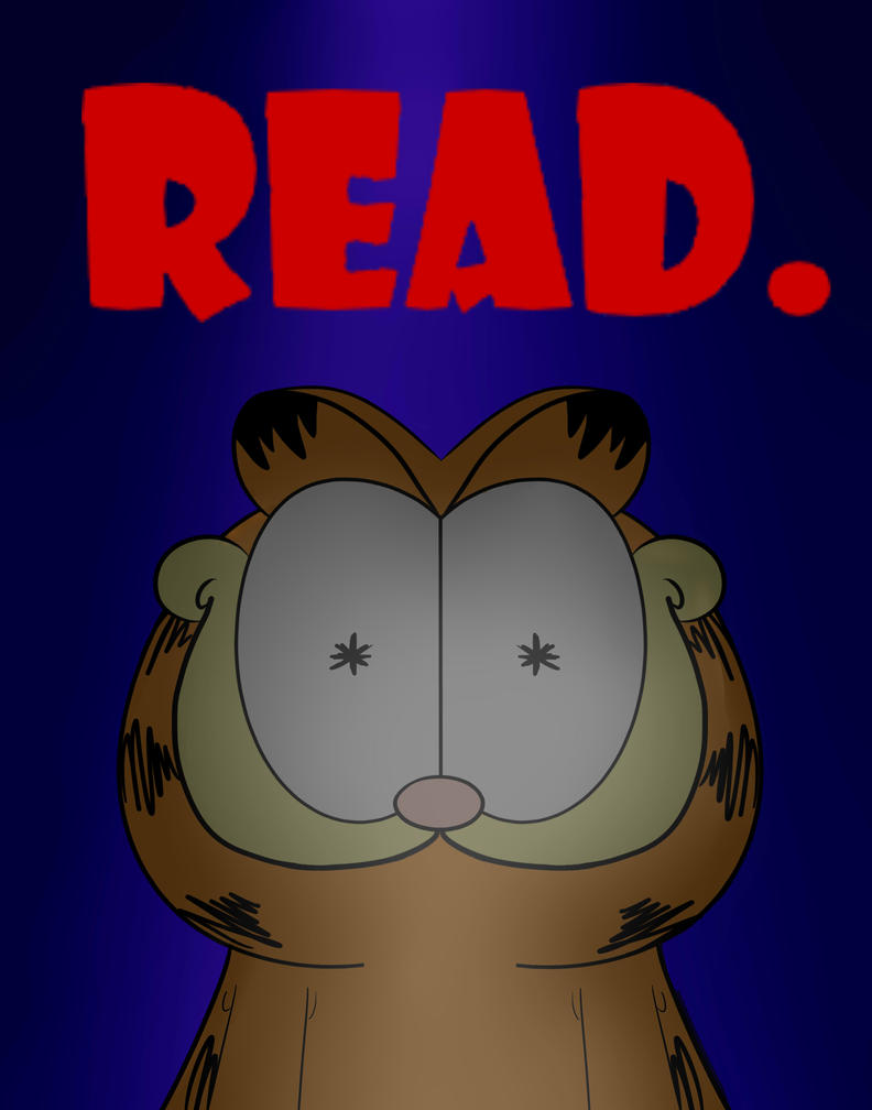 Garfield Really Wants You To Read by 4CatsinaBoat