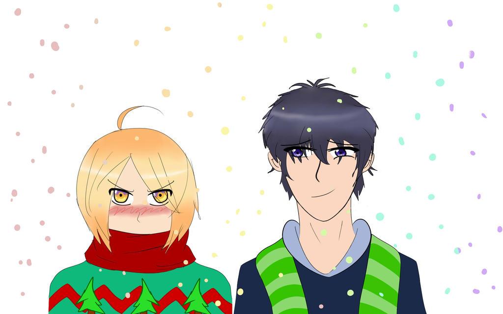 Izumi and Ryouma Winter Fun by 4CatsinaBoat