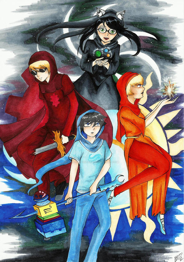 Homestuck Beta kids by FollowingStars