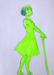 Green girl by KiKaKoShnitzel3
