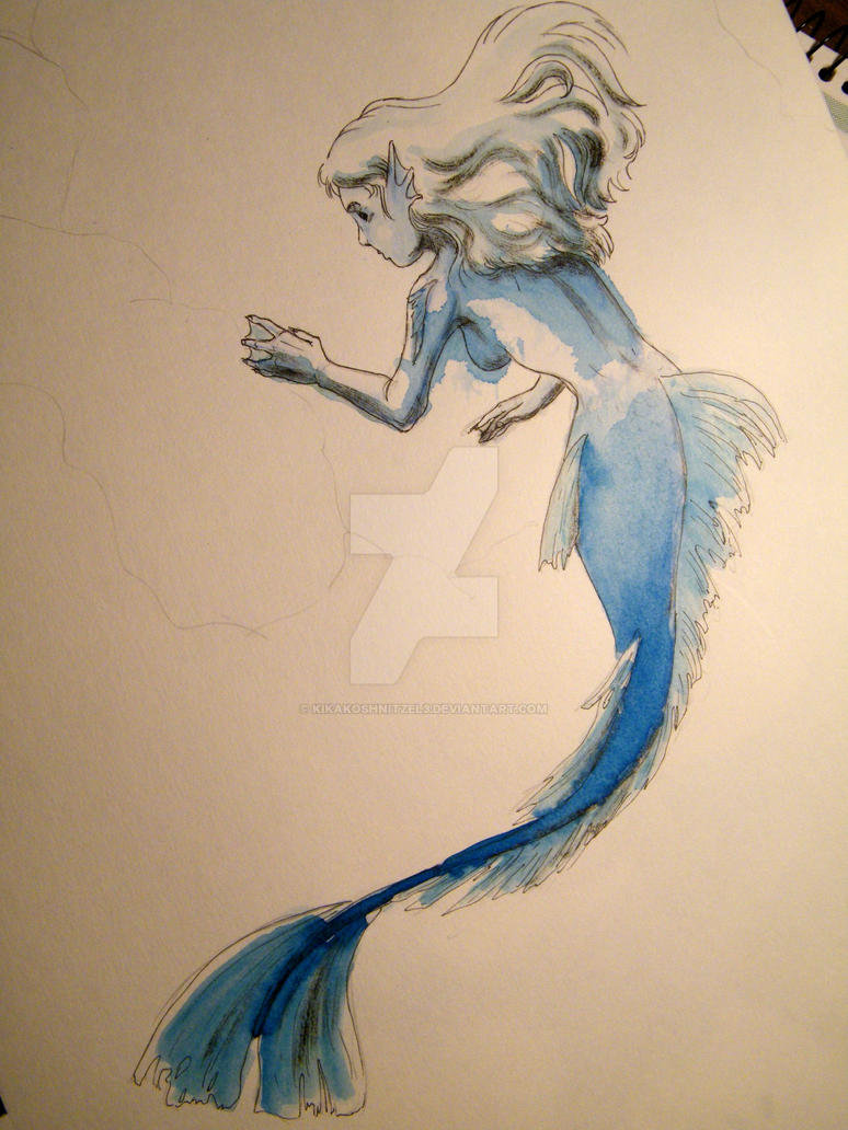 Blue Mermaid by KiKaKoShnitzel3